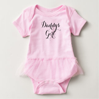 Daddy's Girl Cool Handmade Font Baby Bodysuit