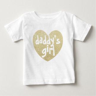 Daddy's Girl Glitter-Print heart Golden Shirts