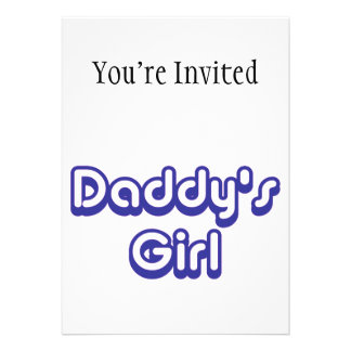 Daddy's Girl Custom Invitations