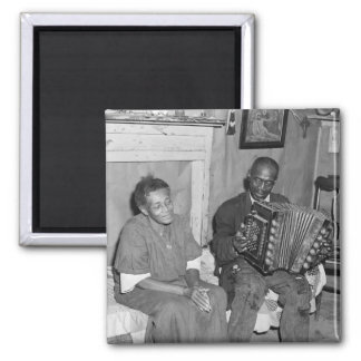 Daddy's Got A Squeezebox: 1940 Square Magnet