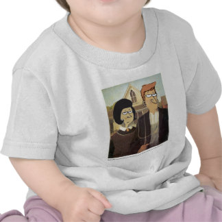 Daddy's Home American Gothic Tshirts