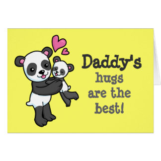 Daddy's hugs are the best Panda bear cuddle card