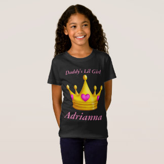 Daddy's Lil Little Girl Princess Crown T-Shirt