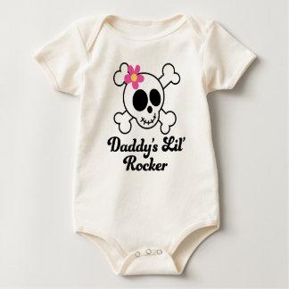 Daddy's Lil' Rocker Girls Skull Baby Bodysuit