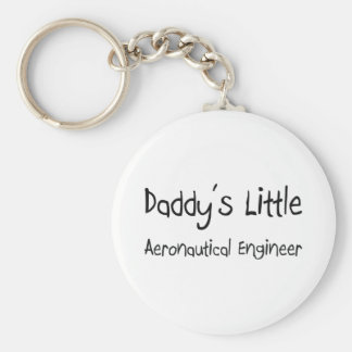 Daddy's Little Aeronautical Engineer Basic Round Button Keychain
