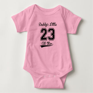 Daddy's Little All-Star (Pink) Baby Bodysuit