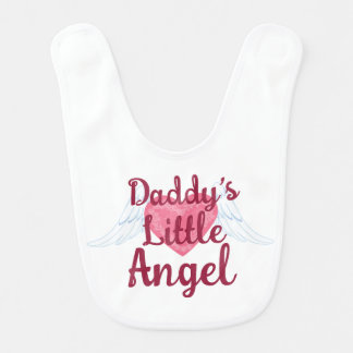 Daddy's Little Angel Baby Bib
