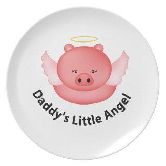 daddys little angel dinner plates