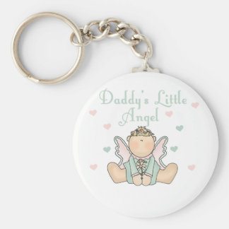 Daddy's Little Angel Keychain