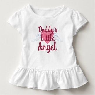 Daddy's Little Angel Toddler Ruffle Tee