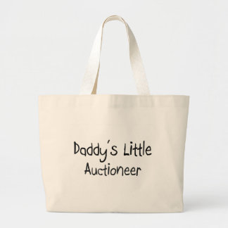 Daddy's Little Auctioneer Large Tote Bag