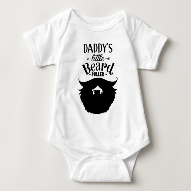 funny Dad DADDY/'S LITTLE BEARD PULLER BABY VEST // GROW Bodysuit Christmas