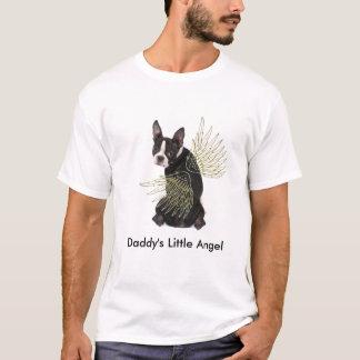 Daddy's Little Boston Terrier Angel T Shirt