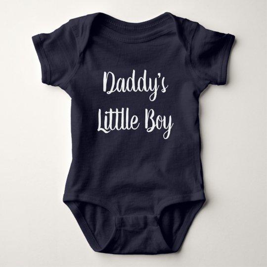 Daddy's little boy hand lettering baby bodysuit