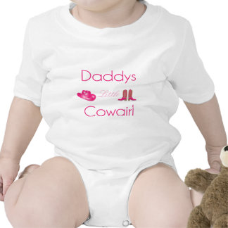 Daddy's little cowgirl infant creeper