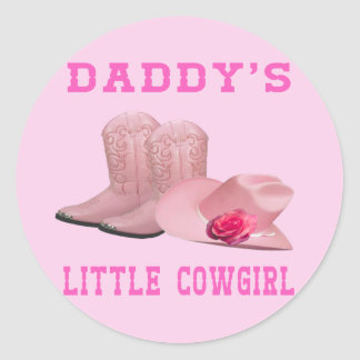 Daddy's Little Cowgirl Stickers
