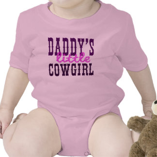 Daddy's Little Cowgirl Bodysuits
