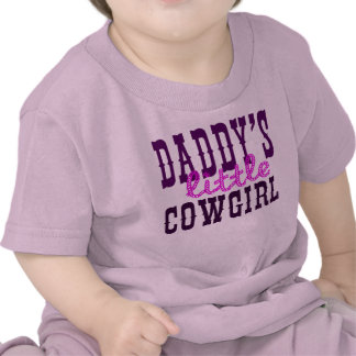 Daddy's Little Cowgirl Tee Shirts