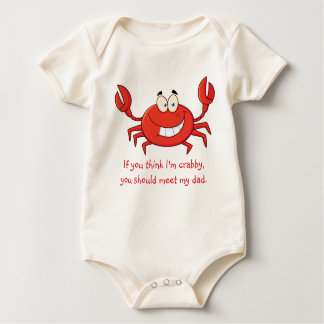 Daddy's Little Crab Baby Bodysuit