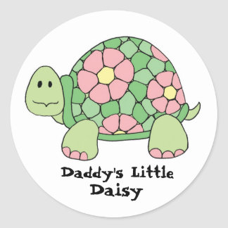 Daddy's Little Daisy Classic Round Sticker