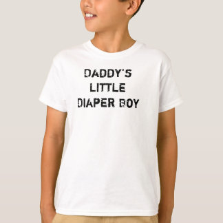 Daddy's Little Diaper Boy T-Shirt