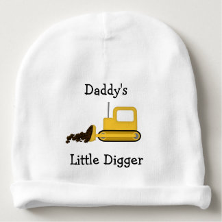Daddy's Little Digger Infant Hat Baby Beanie