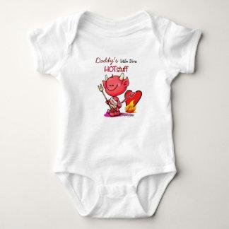 Daddy's little diva Hot stuff - Valentine Baby Bodysuit
