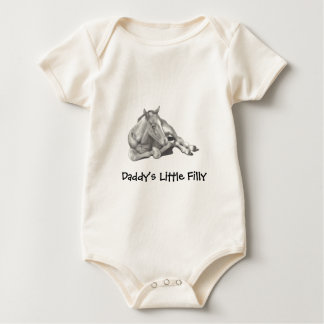 DADDY'S LITTLE FILLY: PENCIL ART BABY BODYSUIT
