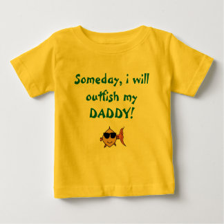 Daddy's Little Fisherman Baby T-Shirt
