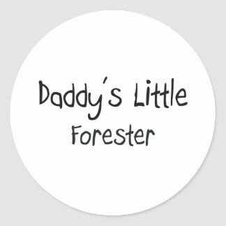 Daddy's Little Forester Round Stickers