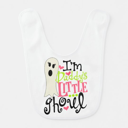 Daddy's Little Ghoul Halloween Baby Bibs