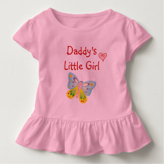 Daddy's Little Girl Cute Butterfly Love Heart Toddler T-shirt