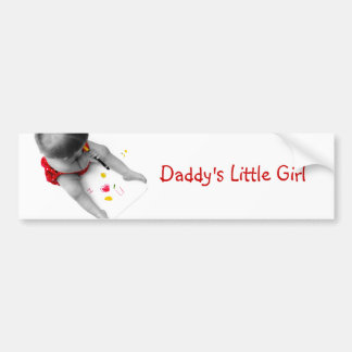Daddys Little Girl I Love You Dad I Heart U Bumper Sticker