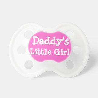 Daddy's Little Girl Pacifiers Hot Pink Binky