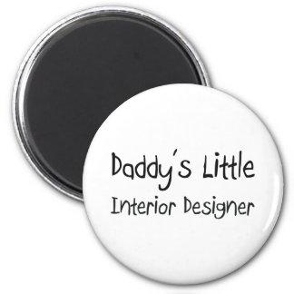 Daddy's Little Interior Designer 2 Inch Round Magnet