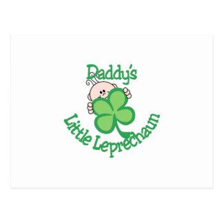 Daddy's Little Leprechaun Postcard