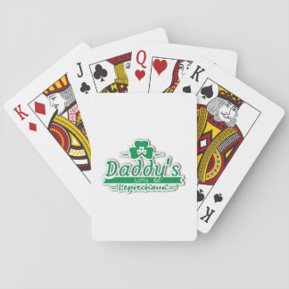 Daddy's Little Leprechaun St Patricks Day Kids Playing Cards