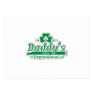 Daddy's Little Leprechaun St Patricks Day Kids Postcard