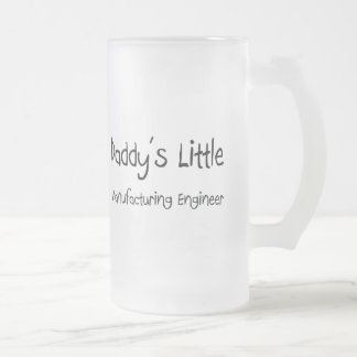 Daddy's Little Manufacturing Engineer Frosted Glass Beer Mug