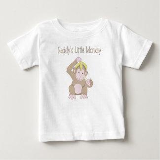 Daddy's Little Monkey Baby T-Shirt