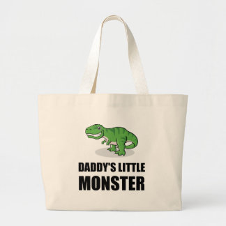 Daddys Little Monster Large Tote Bag