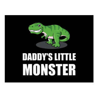 Daddys Little Monster Postcard