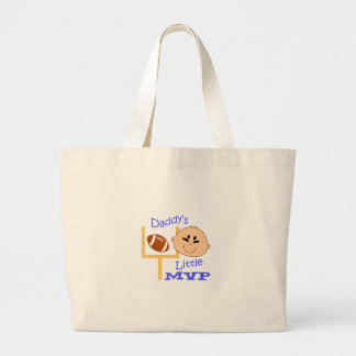 Daddys Little Mvp Large Tote Bag