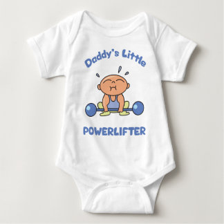 Daddys Little Powerlifter Kids Sport Powerlifting Baby Bodysuit