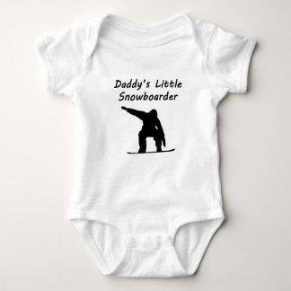 Daddy's Little Snowboarder Baby Bodysuit