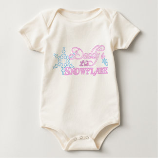 Daddy's Little Snowflake Baby Bodysuit