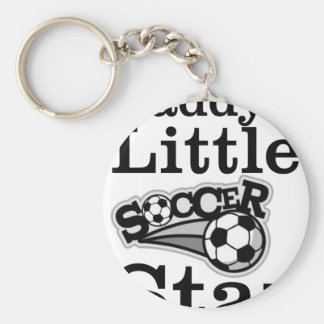 Daddy's Little Soccer Star Basic Round Button Keychain