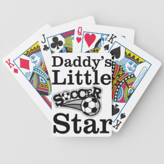 Daddy's Little Soccer Star Bicycle Playing Cards