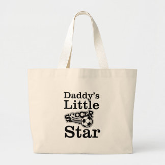 Daddy's Little Soccer Star Large Tote Bag