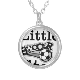 Daddy's Little Soccer Star Silver Plated Necklace